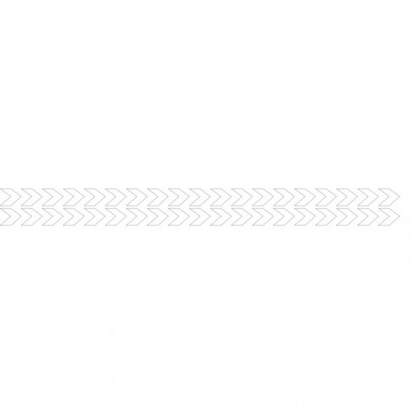 Bandes adhésives pour repérage des portes vitrées 100 mm - Double chevrons blanc