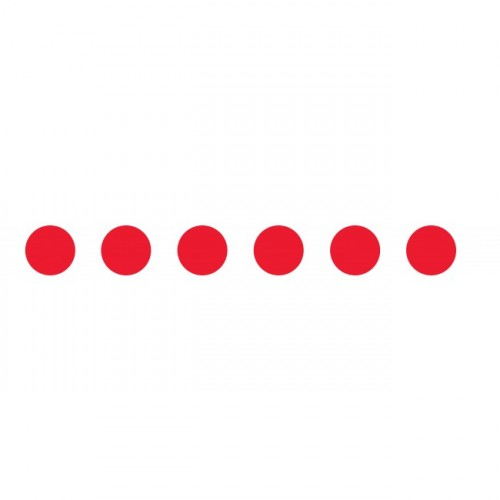 Bandes adhésives repérage des portes vitrées - Ronds rouges