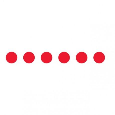 Bandes adhésives pour repérage des portes vitrées 100 mm - Ronds rouges