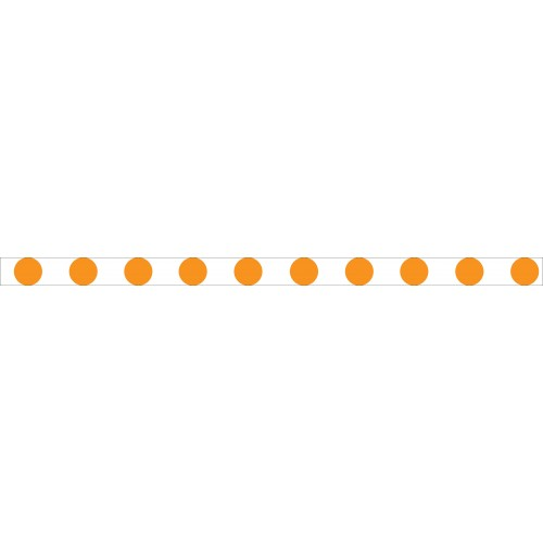 Bandes adhésives repérage des portes vitrées - Ronds oranges
