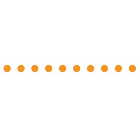 Bandes adhésives pour repérage des portes vitrées 52 mm - Ronds orange