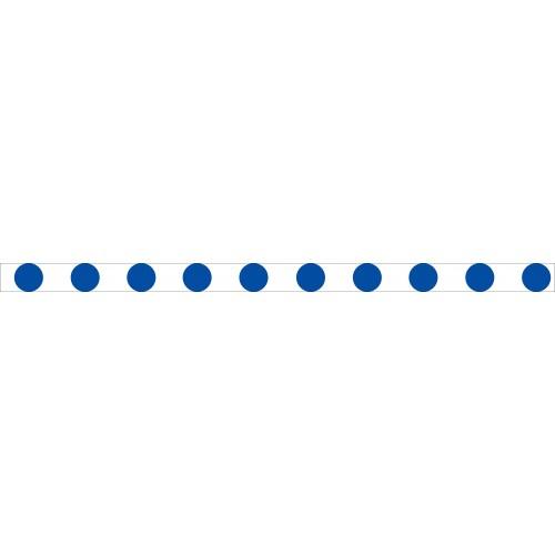 Bandes adhésives repérage des portes vitrées - Ronds bleus