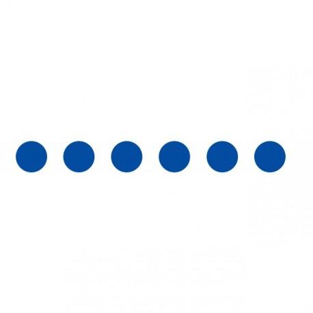 Bandes adhésives pour repérage des portes vitrées 100 mm - Ronds bleu