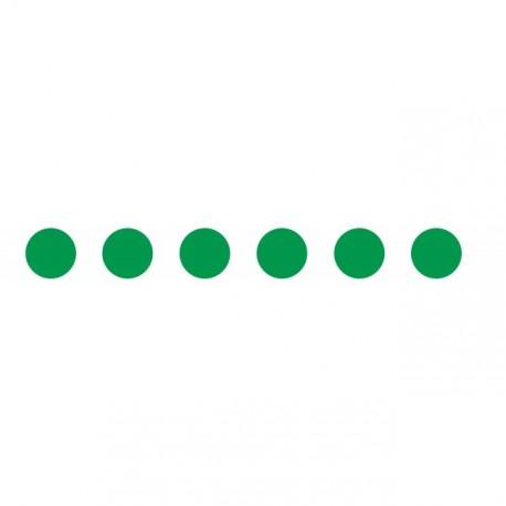 Bandes adhésives pour repérage des portes vitrées 100 mm - Ronds vert