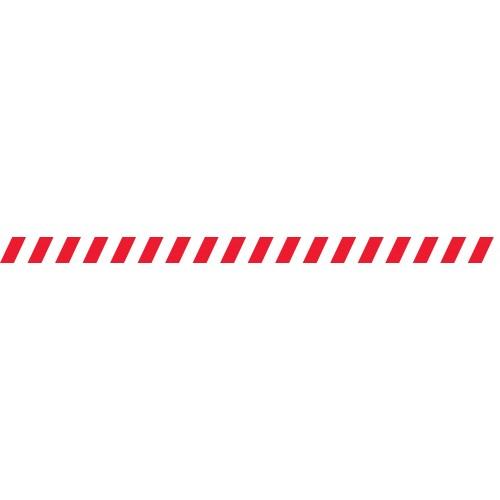 Bandes adhésives repérage des portes vitrées - Hachures rouges