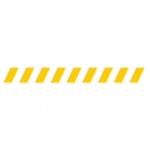 Bandes adhésives repérage des portes vitrées - Hachures jaunes