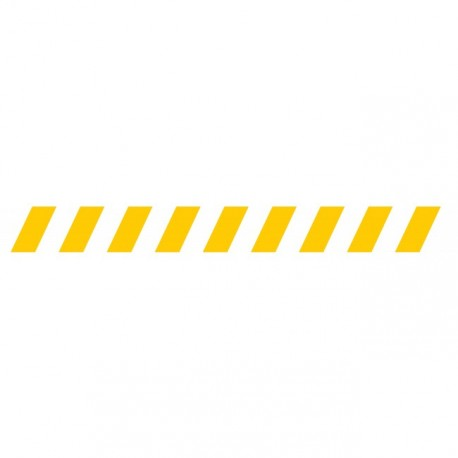Bandes adhésives pour repérage des portes vitrées 100 mm - Hachures jaune