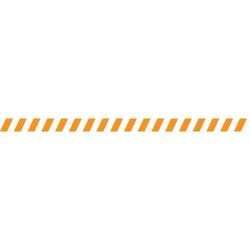 Bandes adhésives repérage des portes vitrées - Hachures oranges