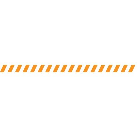 Bandes adhésives pour repérage des portes vitrées 52 mm - Hachures orange