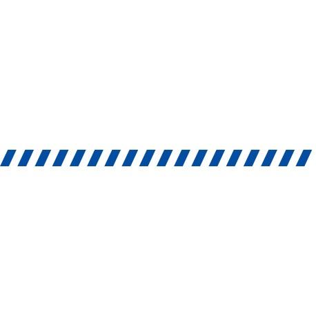 Bandes adhésives pour repérage des portes vitrées 52 mm - Hachures bleu