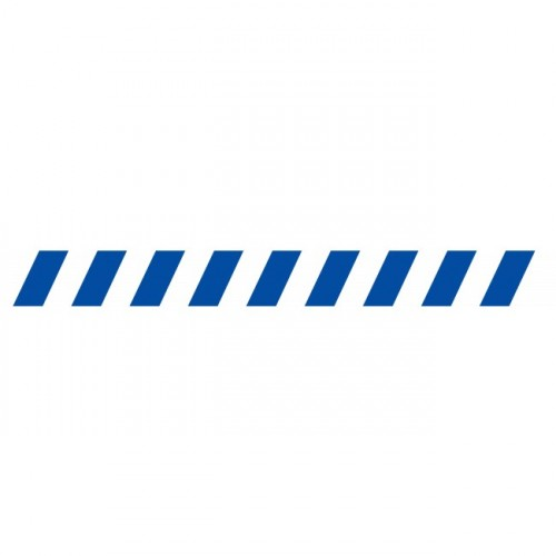 Bandes adhésives repérage des portes vitrées - Hachures bleues