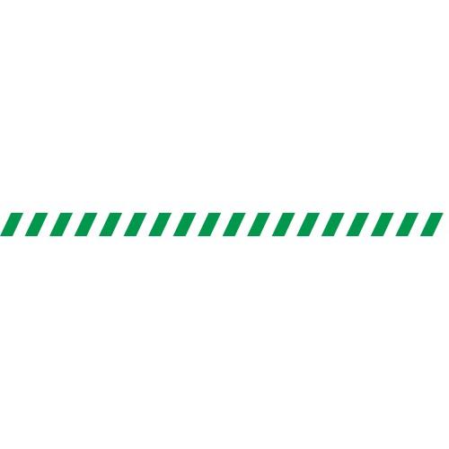 Bandes adhésives repérage des portes vitrées - Hachures Vertes