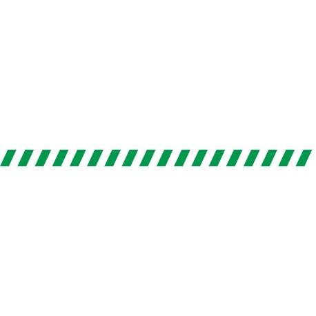 Bandes adhésives pour repérage des portes vitrées 52 mm - Hachures Vert