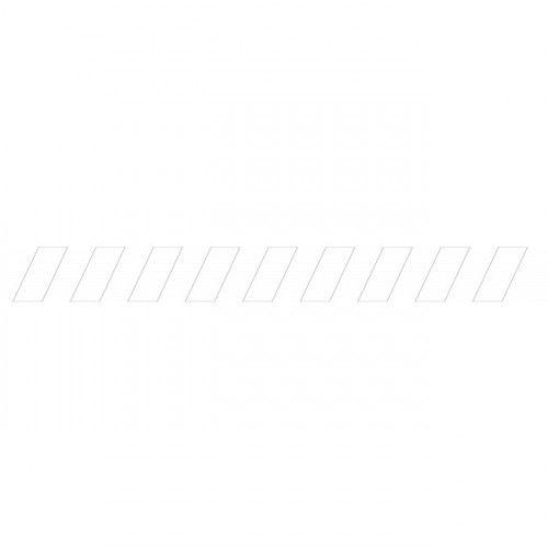 Bandes adhésives repérage des portes vitrées - Hachures Blanches
