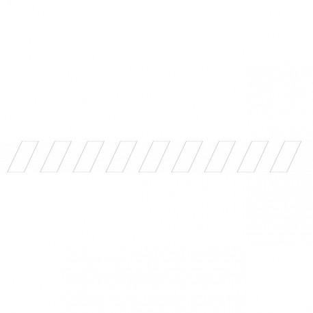 Bandes adhésives pour repérage des portes vitrées 100 mm - Hachures Blanc