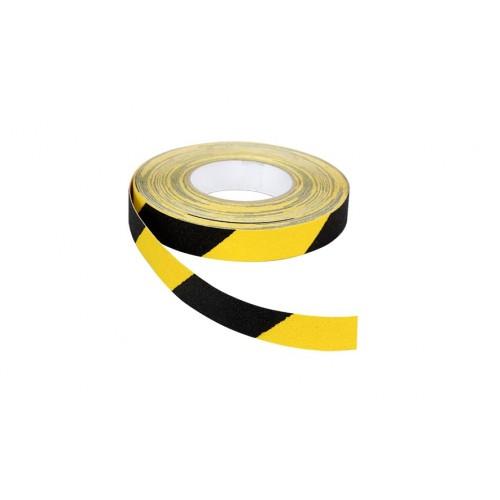 Ruban adhésif antidérapant 25 mm x 18 m jaune et noir